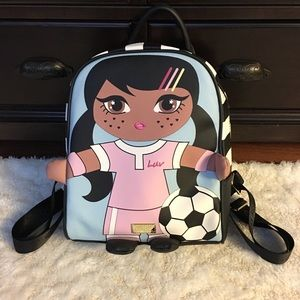 Luv Betsey by Betsey Johnson cute soccer backpack
